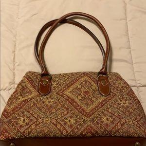 1954 Fossil tapestry handbag
